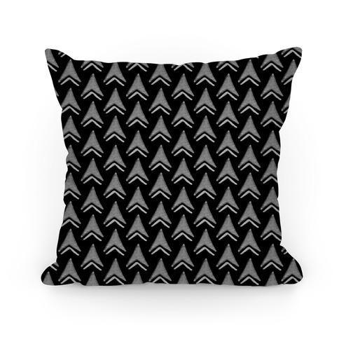 Black Arrow Pattern Pillow