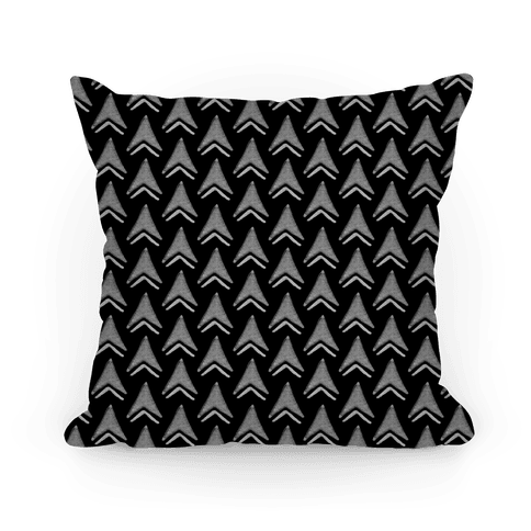 Black Arrow Pattern Pillow