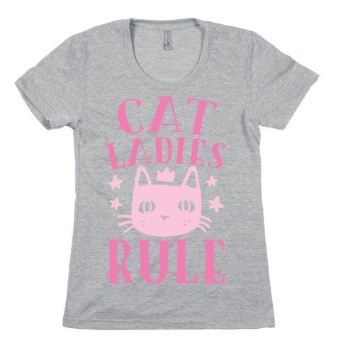 Cat Ladies Rule Womens T-Shirt