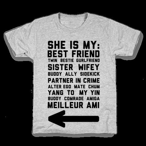 She Is My Best Friend Twin Bestie 2 Kids T-Shirt