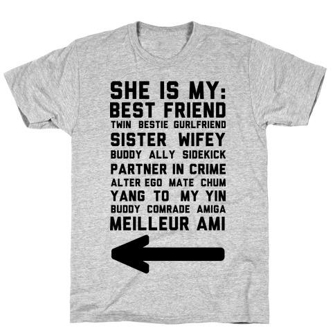 She Is My Best Friend Twin Bestie 2 T-Shirt