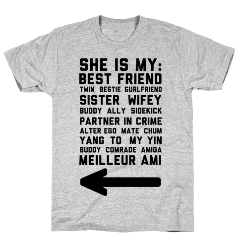 She Is My Best Friend Twin Bestie 2 Mens T-Shirt