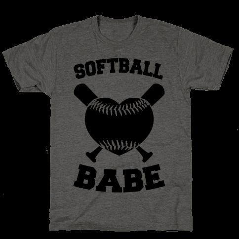 Softball Babe (black) Mens T-Shirt