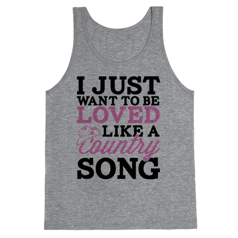 Country Song Love Tank Top