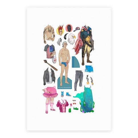 My Little Washington Paper Doll Poster