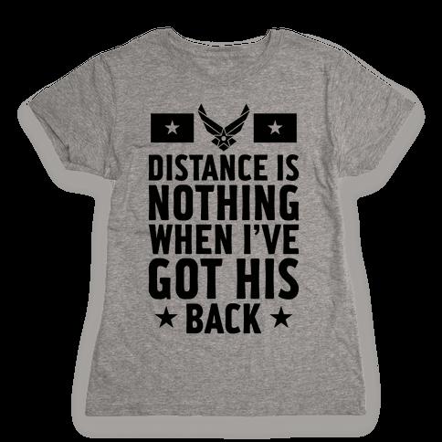 I've Got His Back (Air Force) Womens T-Shirt