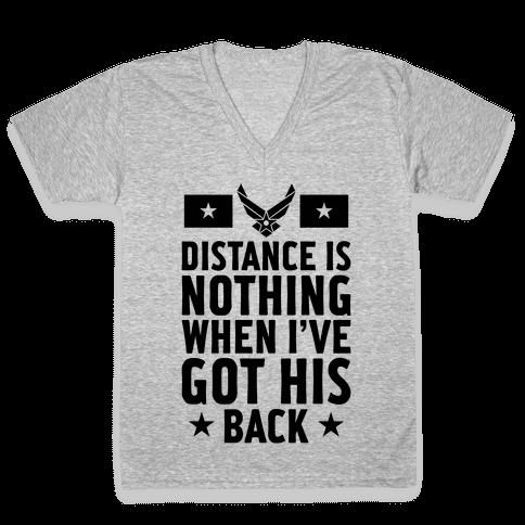 I've Got His Back (Air Force) V-Neck Tee Shirt