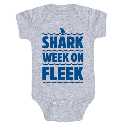 Shark Week On Fleek Baby Onesy