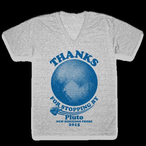 Pluto New Horizons Probe V-Neck Tee Shirt