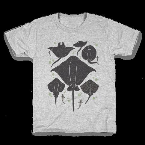 Family Of Stingrays Kids T-Shirt