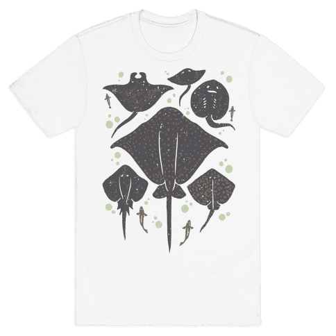 Family Of Stingrays Mens T-Shirt