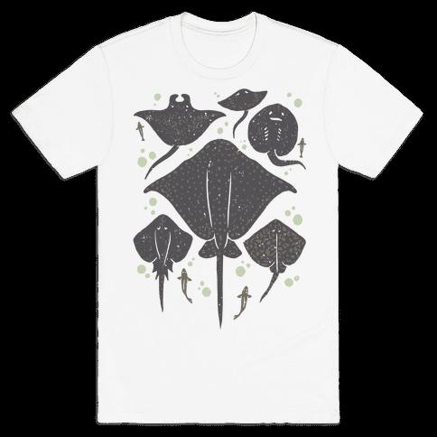 Family Of Stingrays Mens T-Shirt