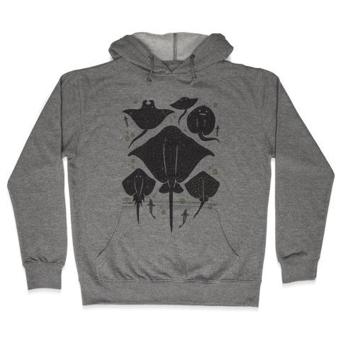 Family Of Stingrays Hooded Sweatshirt