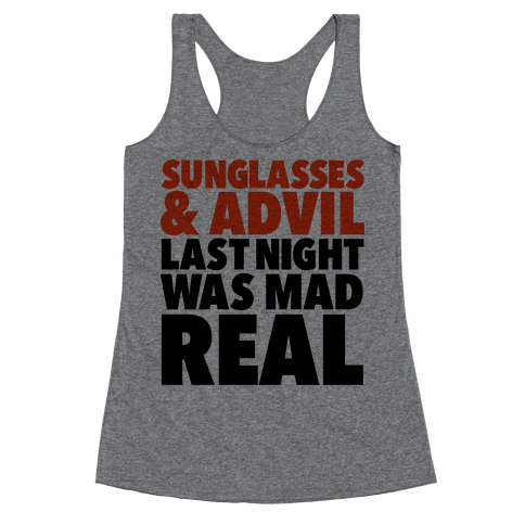 Sunglasses & Advil Racerback Tank Top