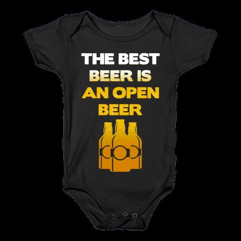 Open Beer Baby Onesy