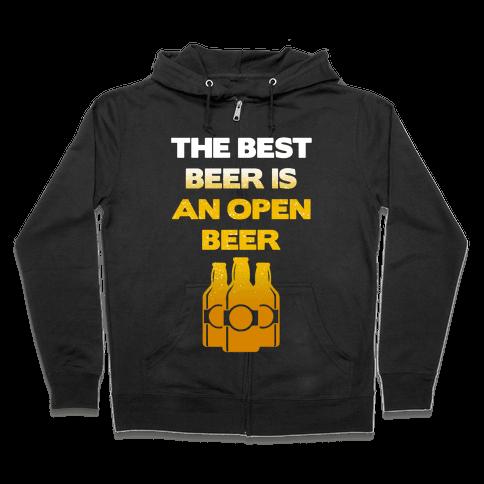 Open Beer Zip Hoodie