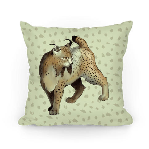 Wild Cat Lynx Pillow