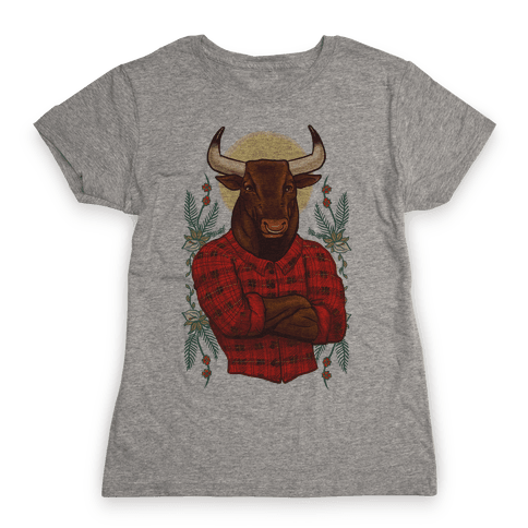 Flannel Taurus Womens T-Shirt