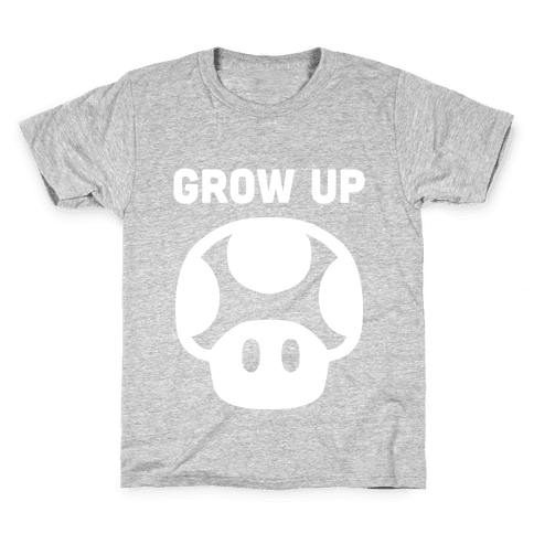 Red Mushroom (Grow Up) Kids T-Shirt