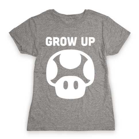 Red Mushroom (Grow Up) Womens T-Shirt