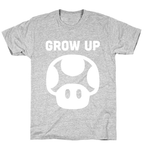 Red Mushroom (Grow Up) Mens T-Shirt