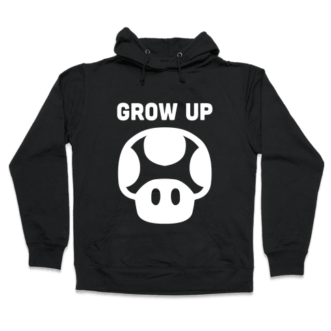 Red Mushroom (Grow Up) Hooded Sweatshirt