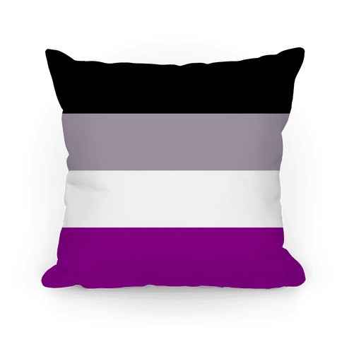 Asexual Pride Flag Pillow