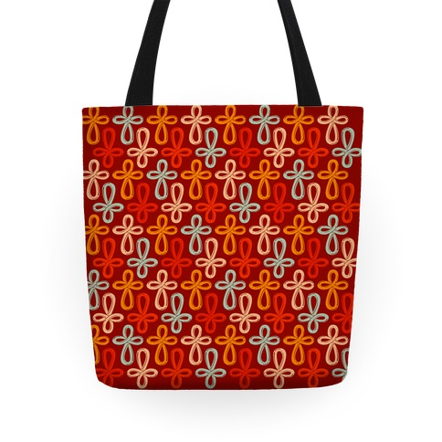Infinity Cross Pattern Tote