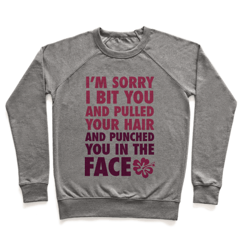 Sorry I Punched You In The Face Pullover