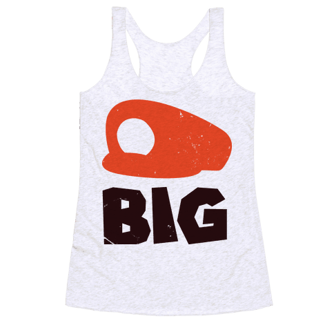 Super Bro Big (Baseball Tee) Racerback Tank Top
