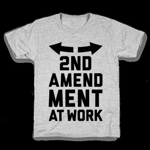 2nd Amendment At Work Kids T-Shirt