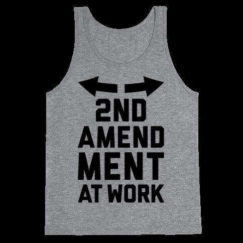 2nd Amendment At Work Tank Top