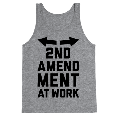 2nd Amendment At Work Tank Top