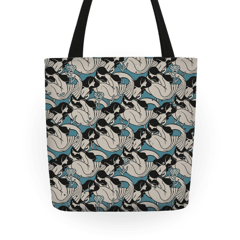 Mermaid pattern Tote