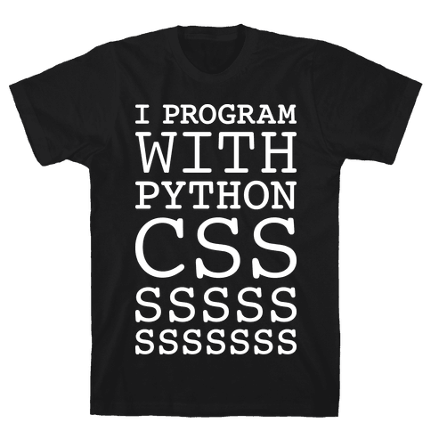 I Program With Python CSS Mens T-Shirt