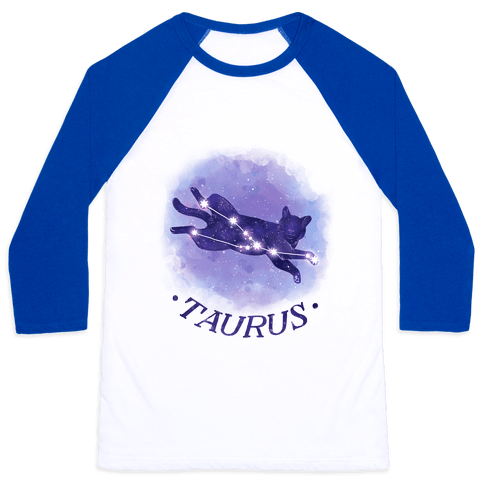 Cat Zodiac: Taurus Baseball Tee