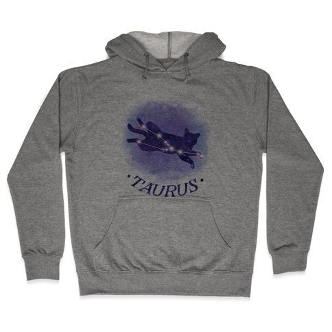 Cat Zodiac: Taurus Hooded Sweatshirt