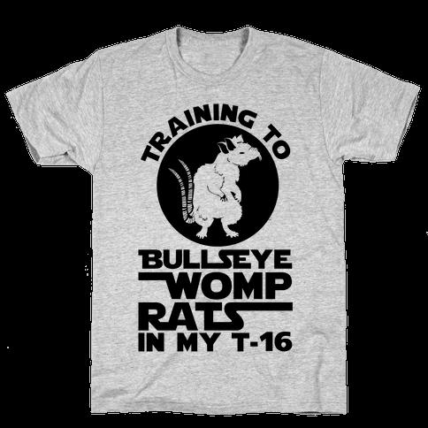 Training To Bullseye Womp Rats Mens T-Shirt