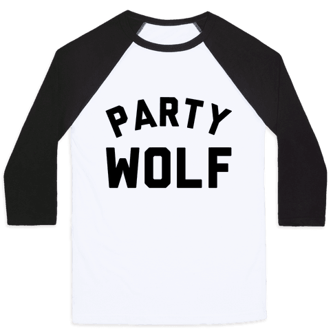 Party Wolf Baseball Tee