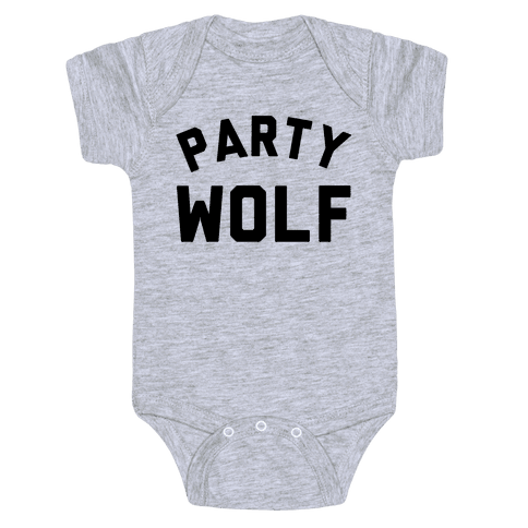 Party Wolf Baby Onesy