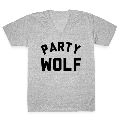 Party Wolf V-Neck Tee Shirt