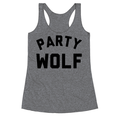 Party Wolf Racerback Tank Top
