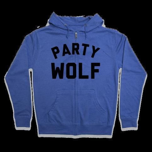 Party Wolf Zip Hoodie