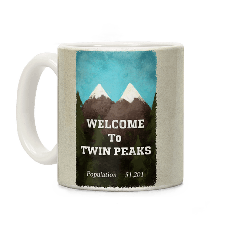 Twin Peaks Population Sign Coffee Mug