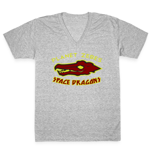 Space Dragons V-Neck Tee Shirt