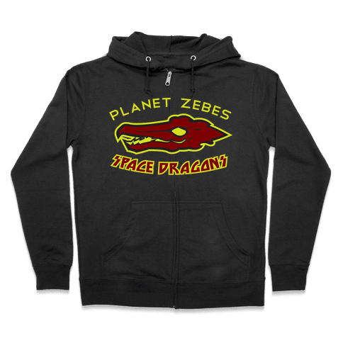 Space Dragons Zip Hoodie