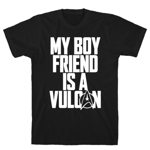My Boyfriend Is A Vulcan Mens T-Shirt