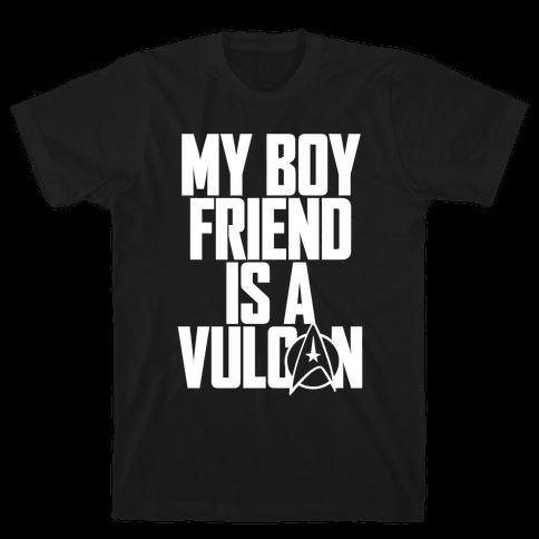 My Boyfriend Is A Vulcan Mens T-Shirt
