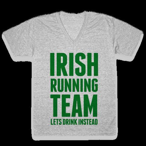 Irish Running Team V-Neck Tee Shirt