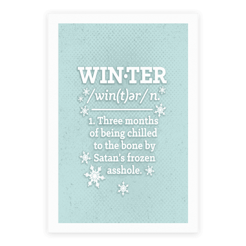Winter Definition Poster